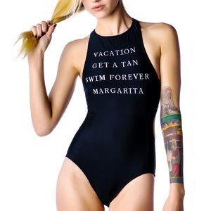Wildfox Take Me On Vacation Monokini NWT Small